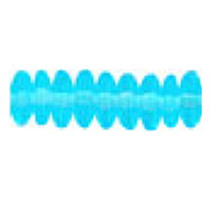 8mm RONDELLE DRUKS (saucer shape), Czech glass, aqua, (100 beads)