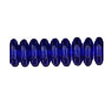 8mm RONDELLE DRUKS (saucer shape), Czech glass, sapphire dark (same as cobalt), (100 beads)