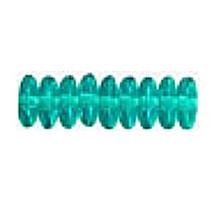 8mm RONDELLE DRUKS (saucer shape), Czech glass, blue zircon, (100 beads)