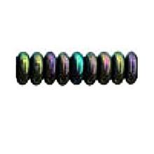 8mm RONDELLE DRUKS (saucer shape), Czech glass, green iris metallic, (100 beads)