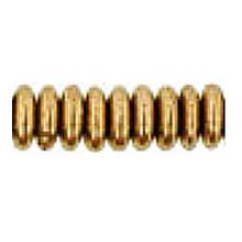 8mm RONDELLE DRUKS (saucer shape), Czech glass, bronze metallic, (100 beads)