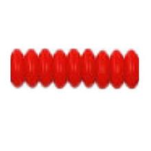 10mm RONDELLE DRUKS (saucer shape), Czech Glass, cherry opaque, (100 beads)