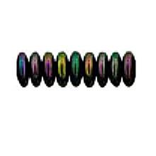 8mm RONDELLE DRUKS (saucer shape), Czech glass, purple iris metallic, (100 beads)