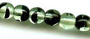6mm Round Druk, Czech Glass, green tortoise, (100 beads)