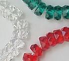 6x3mm Fire Polish Rondelle Bead (aka, Tire), Czech Glass, crystal/silver, (50 beads)