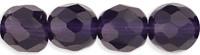 4mm Round Fire Polish Bead, Czech Glass, tanzanite, (100 beads)