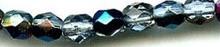 6mm Round Fire Polish Bead, Czech Glass, peridot/azuro, (100 beads)