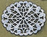 "Oval, Flat Filigree, 1 5/8"", imit. rhodium plate (nickel color), (4 pieces)"