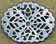 "Oval, Wavy Filigree, Small, 1 1/4"", imit. rhodium plate (nickel color), (6 pieces)"
