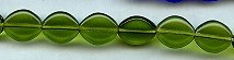 12x10mm Flat Oval Glass Bead, Czech Glass, dark olivine, (25 beads)