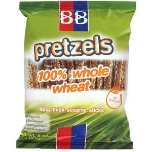 B&B Beigel 100% Whole Wheat Pretzels Sticks Sesame