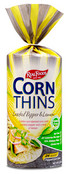 Real Foods Corn Thins Cracked Pepper & Lemon, Case of 12 x 5.3 oz