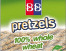 B&B 100% Whole Wheat Pretzels Sesame Sticks, 24 oz.