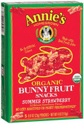Annie's Organic Bunny Fruit Snacks Summer Strawberry