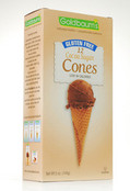 Goldbaums Gluten Free Cocoa Sugar Ice Cream Cones, 5 oz