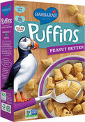 Barbara's Bakery Puffins Cereal Peanut Butter