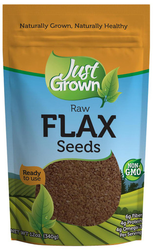 Just Grown Raw Flax Seeds