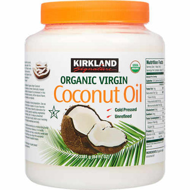 kirkland coconut oil organic virgin jumbo 84 fl oz