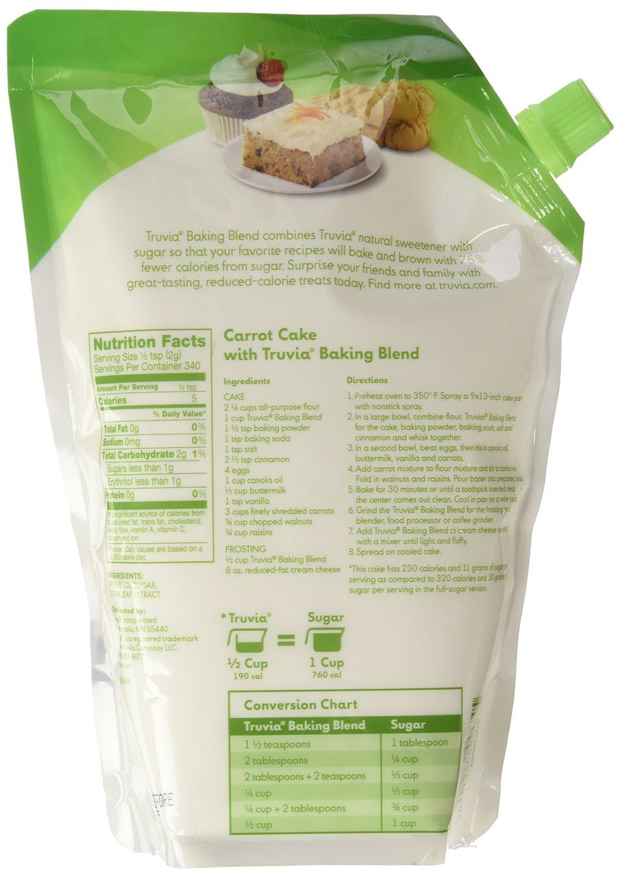 Truvia Baking Blend 25 Lbs Whole And Natural