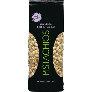 Wonderful Pistachios Salt and Pepper, 48 oz.