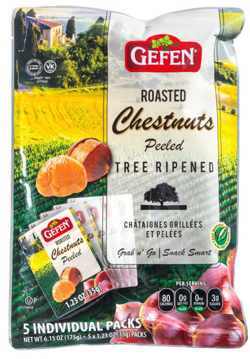 Gefen Organic Roasted Chestnuts, 6.15 oz
