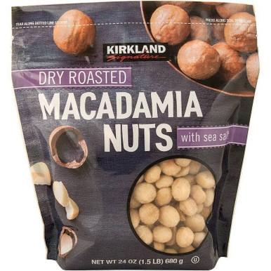 Kirkland Dry Roasted Macadamia Nuts, 24 oz.