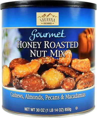 Savanna Orchards Gourmet Honey Roasted Nut Mix with Macadamia