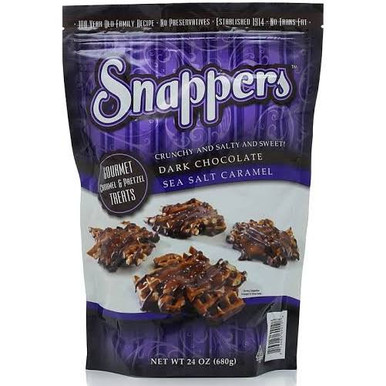 Snappers Dark Chocolate Sea Salt Caramel, 24 oz