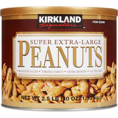 Kirkland Roasted and Salted Super Extra Large Peanuts, 2.5 lbs.