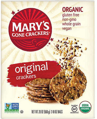 Mary's Gone Crackers Organic Gluten Free Crackers Original, 20 oz.