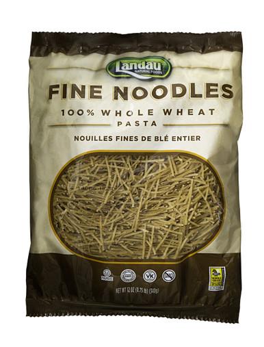 Landau Whole Wheat Pasta Fine Noodles, 12 oz.