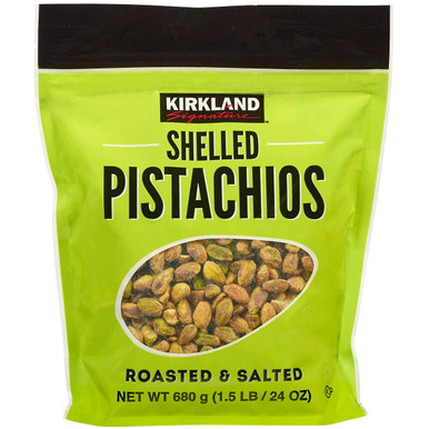 Kirkland Shelled Pistachios Roasted and Salted, 1.5 lbs.