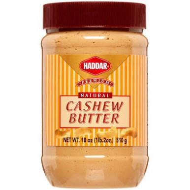 Haddar Premium Natural Cashew Nut Butter, 18 oz.