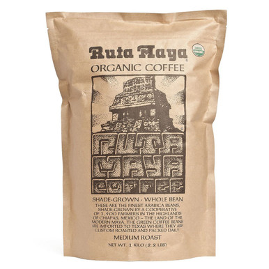Ruta Maya Organic Coffee Bean Medium Roast, 2.2 lbs.