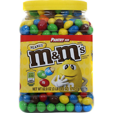 M&M's Peanut Chocolate M&M Candy, 62 oz.