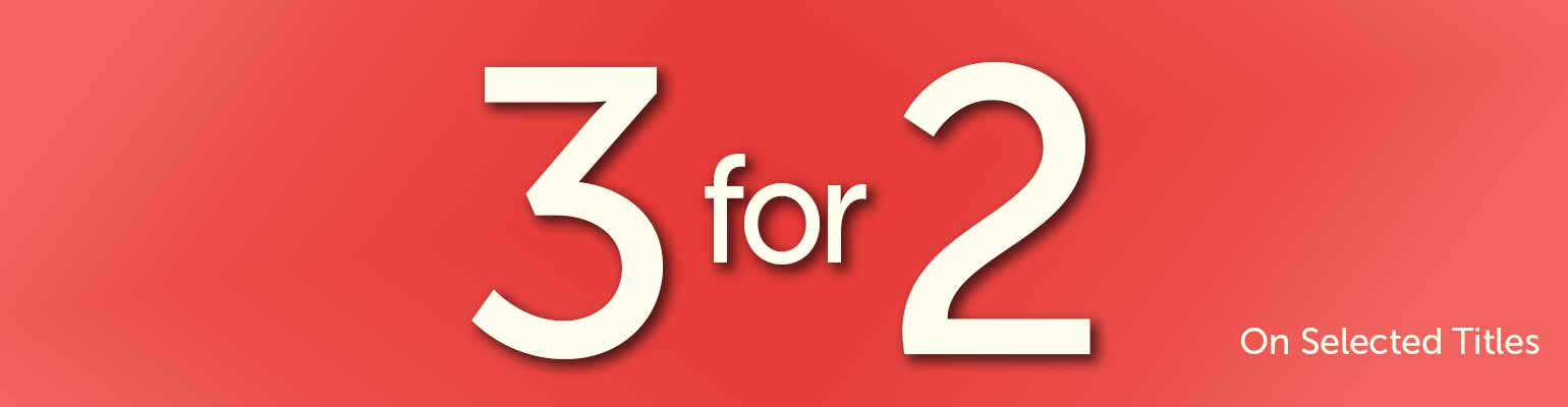3 for 2 on Selected Titles