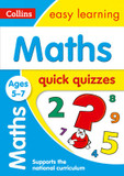 Collins Easy Learning KS1: Maths Quick Quizzes Ages 5-7 cover photo