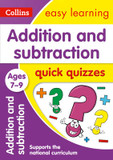 Collins Easy Learning KS2: Addition & Subtraction Quick Quizzes Ages 7-9 cover photo