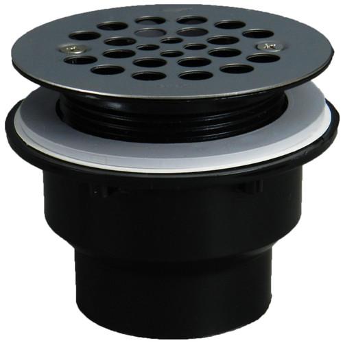 Fiberglass Shower Drain Using Black PVC