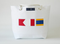Personalized Nautical Flag Tote