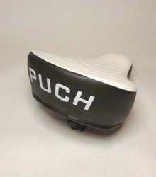 Puch Solo Seat - White / Black