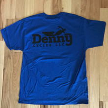 Denny Cycles Blue Short Sleeve Shirt XL