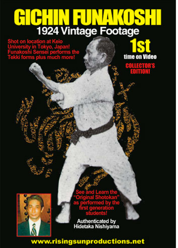 Gichin Funakoshi 1924 Vintage Footage dL