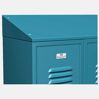 ASI Metal Lockers - Continuous Slope Tops