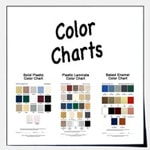 View color charts to find the right color for your job.