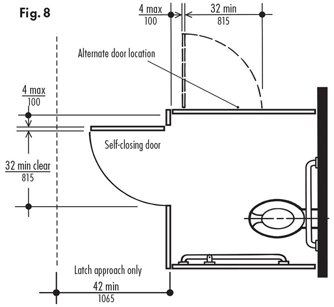 Ada Bathroom Door Swing Out do i need accessible toilet compartments? | ada guidelines