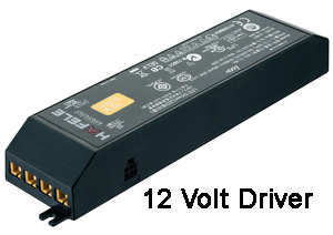 The 12 volt driver converts building power to maximize the life of LED lighting