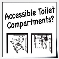 Accessible toilet stalls