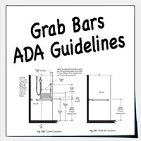 ADA grab bars for shower and bath tub