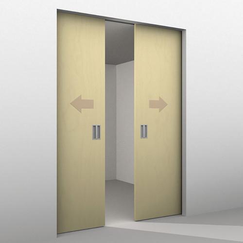 undefined undefined ... & Hawa Symmetric 80/Z Sliding Wood Doors Kit 20661 | Top Quality
